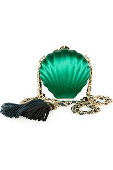 swooon drooling over this Lanvin Minaudeiere satin shell clutch