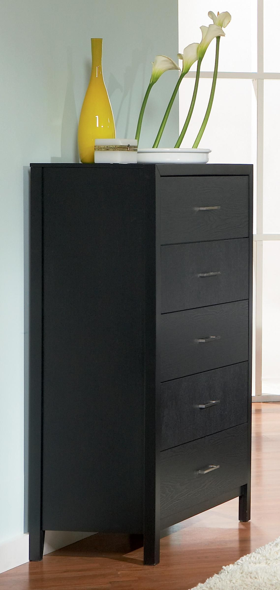 Black Transitional Grove Collection Chest Coaster Furniture