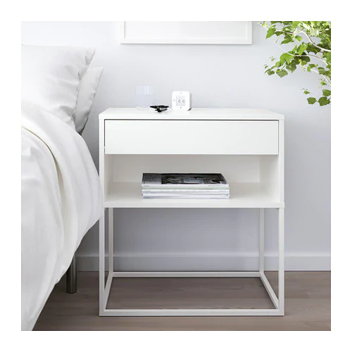 Vikhammer Nightstand White 23 5 8x15 3 8 With Images White Nightstand Bedroom White Bedside Table Bedroom Bedside Table