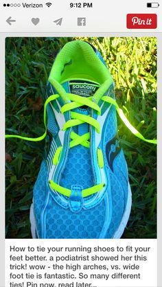 a6284c2e14991 Running Shoe Lacing Techniques | running | Fitness, Shoe lacing ...