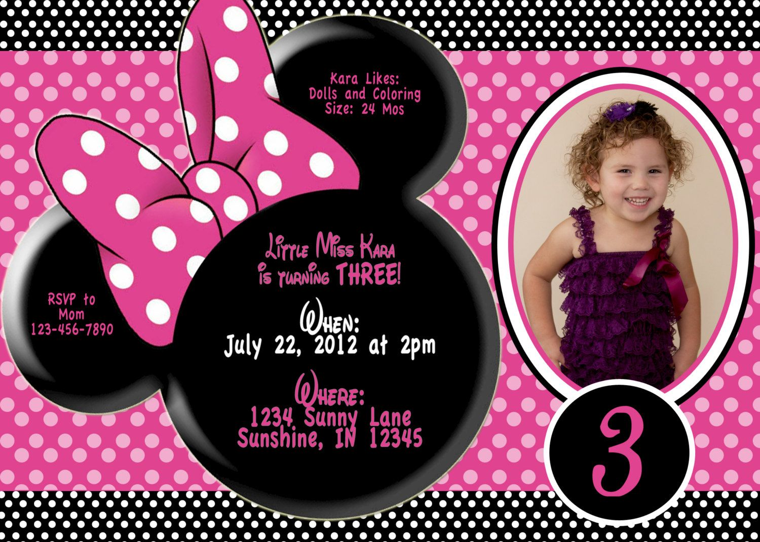 Katey Lee is turning 3.......pic with 3 at bottom | Katey Party ...