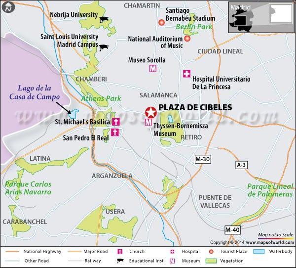Plaza De Cibeles Madrid Map Facts Location Attractions Tour