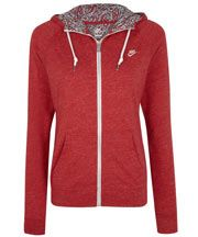 Love the Liberty print on the inside. This may be the *perfect* red, hooded sweatshirt!
