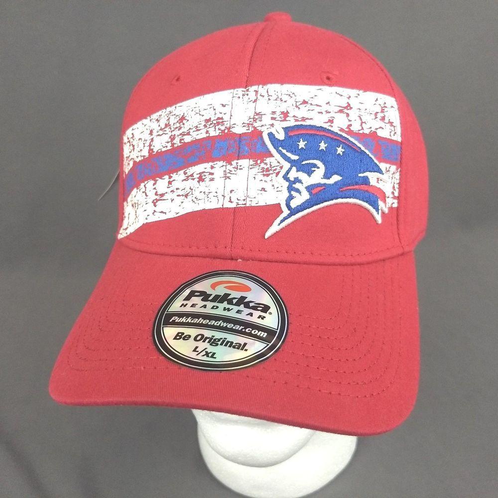 New England Patriots Pukka Headwear Hat Red Baseball Cap A-Flex Fit L XL  NFL  Pukka  BaseballCap  NewEnglandPatriots 158ec351c4e5