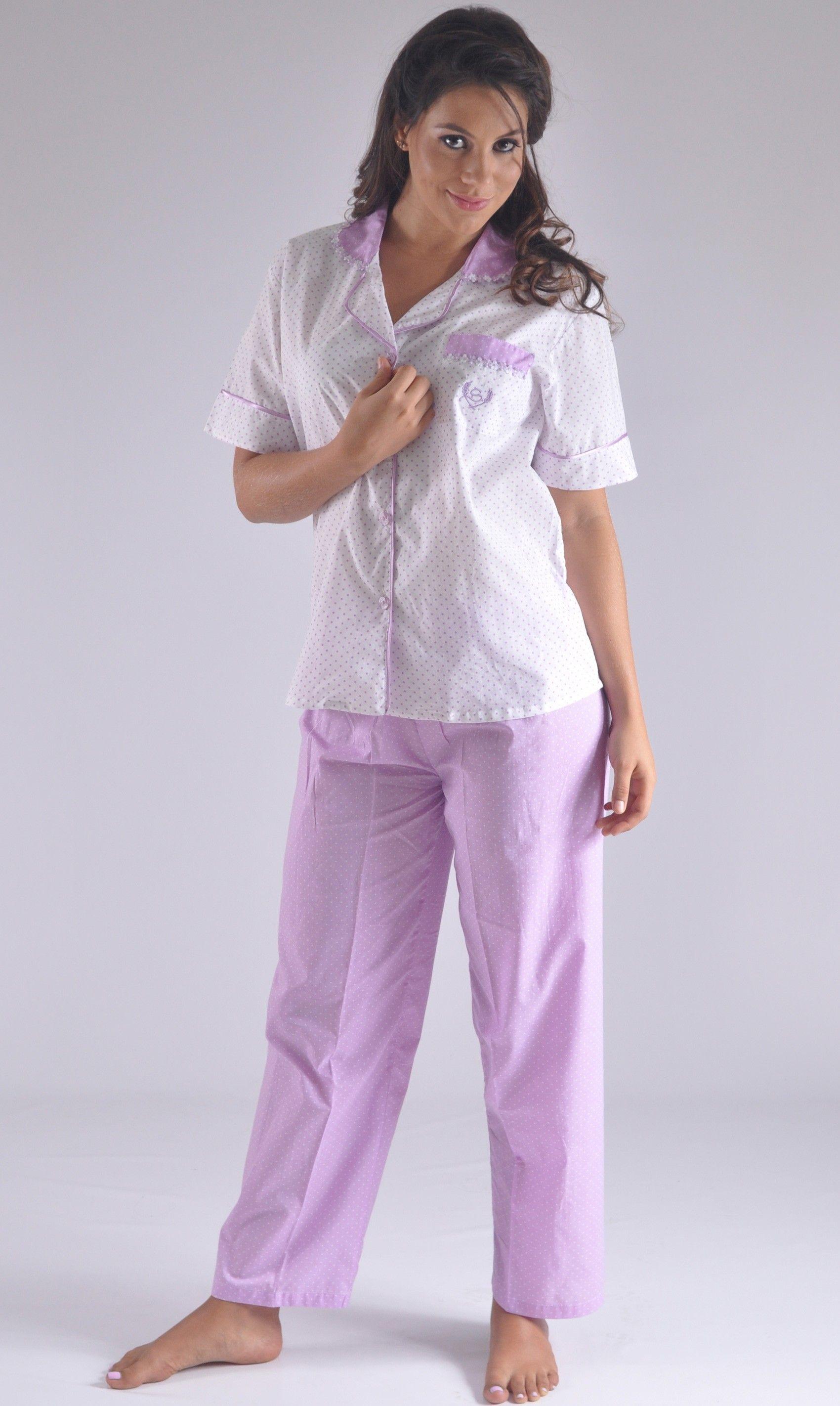d80c1fbff Pijama pantalon largo mujer manga corta Colombia