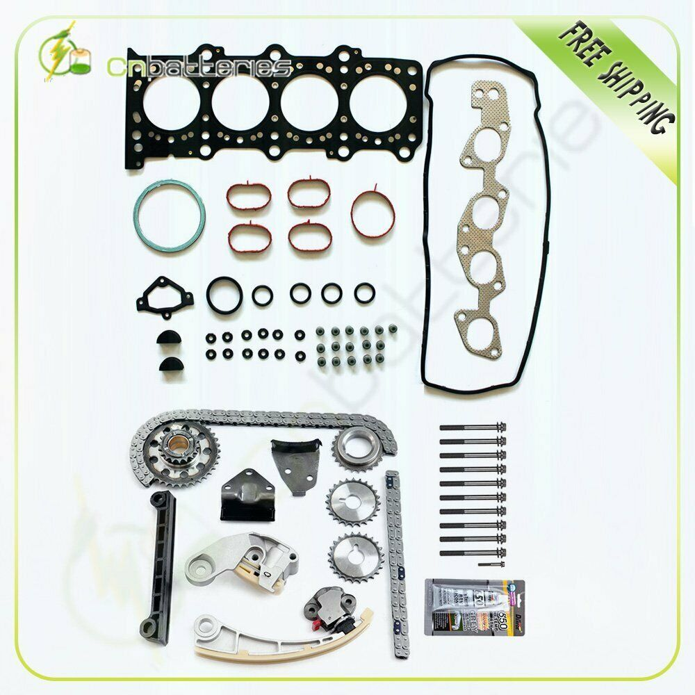 eBay #Sponsored Head Gasket Set Bolts & Timing Chain Kit Fit 2007
