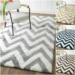 Shop for nuLOOM Handmade Cozy Soft and Plush Chevron Shag Rug (5' x 8'). Get free shipping at Overstock.com - Your Online Home Decor Outlet Store! Get 5% in rewards with Club O!