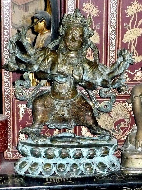 17th-18th Century Tibetan Bronze Figure of Mahakala