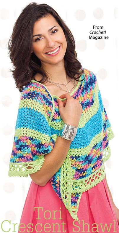 Tori Crescent Shawl from the Summer 2016 issue of Crochet! Magazine ...
