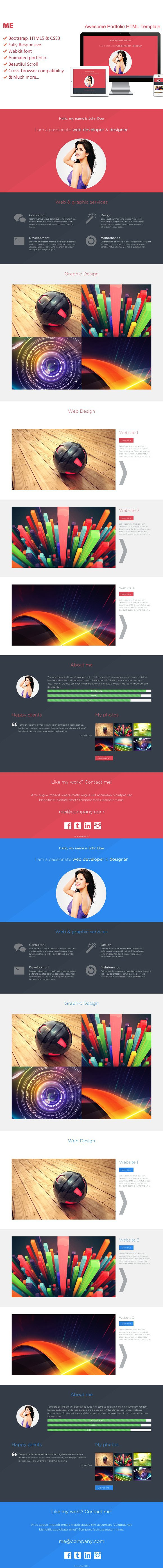 Me-Creative Portfolio HTML Template. Creative Business Card ...