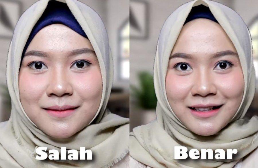 Tutorial Hijab Segi Empat Untuk Wajah Bulat Agar Tampak Tirus Dan Hijab Tutorial Hijab Tutorial
