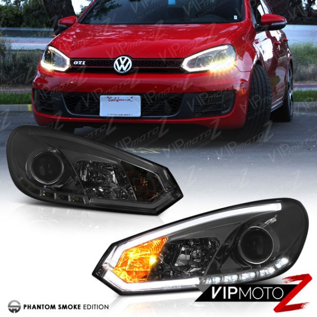 SMoKE} LED Halo Projector DRL Headlight 2010-2014 Volkswagen