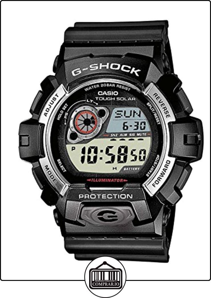b5d79a394164 Casio G-SHOCK - Reloj digital de caballero de cuarzo con correa de resina  negra