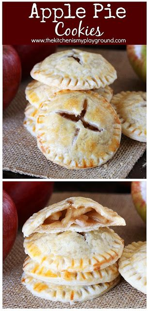 Apple Pie Cookies ~ Loaded with homemade apple pie filling, these cookies are a …
