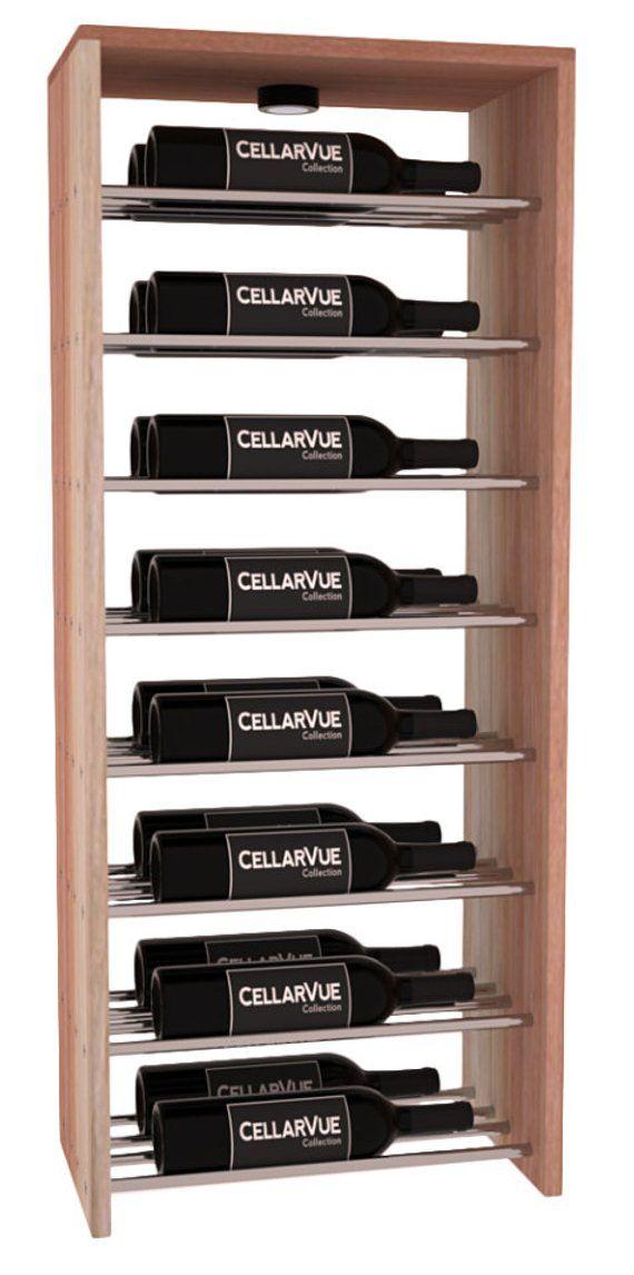 17 Top Horizontal Double Deep Wine Rack Display Kit In