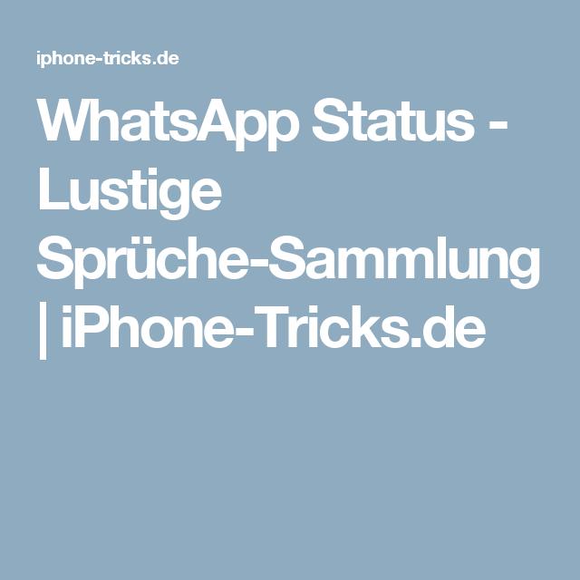 WhatsApp Status   Lustige Sprüche Sammlung | IPhone Tricks.de