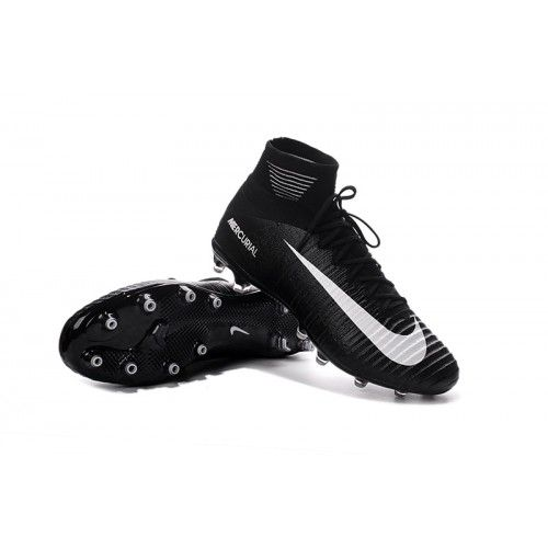 detailed look 5881c d0d77 Barato Nike Mercurial Superfly V AG Negro Blanco Online Zapatos De Futbol