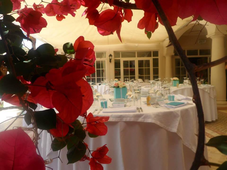 Quinta Jacintina Reception on the terrace