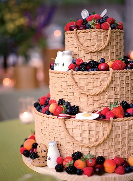 É um bolo de casamento!