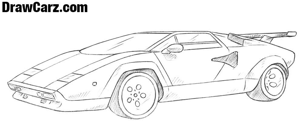 How To Draw A Lamborghini Countach How To Draw Classic Cars