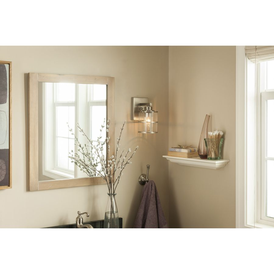 Shop allen + roth Kenross Brushed Nickel Bathroom Vanity Light at ...