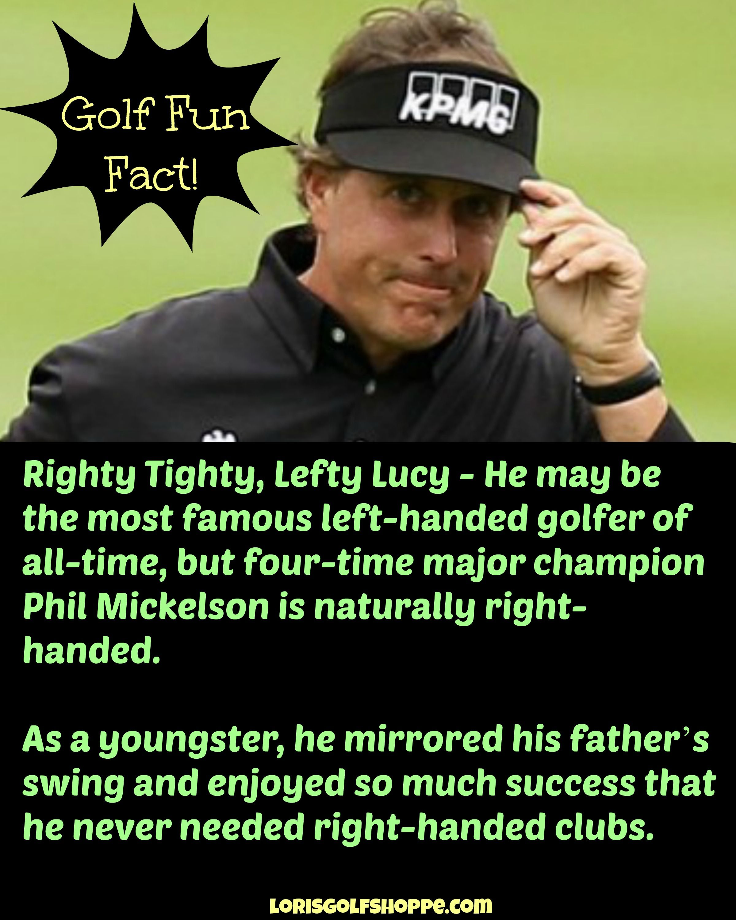 Did you know about this? #golf #PhilMickelson #lorisgolfshoppe
