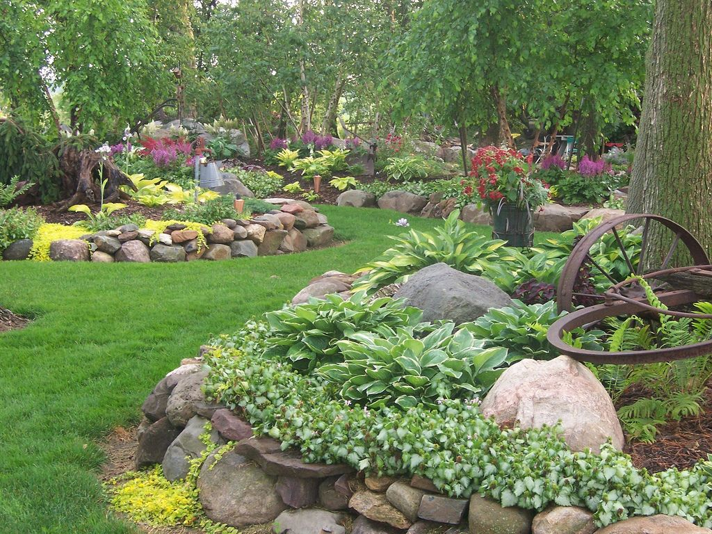 Hosta rock garden Garden Ideas Pinterest