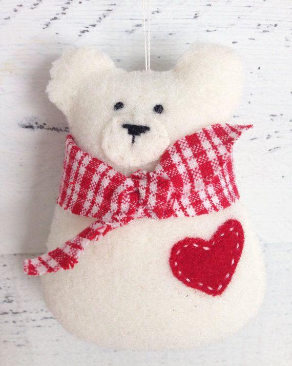 Valentine S Day Bear Ornament Valentine S Gift By Littlecelandine