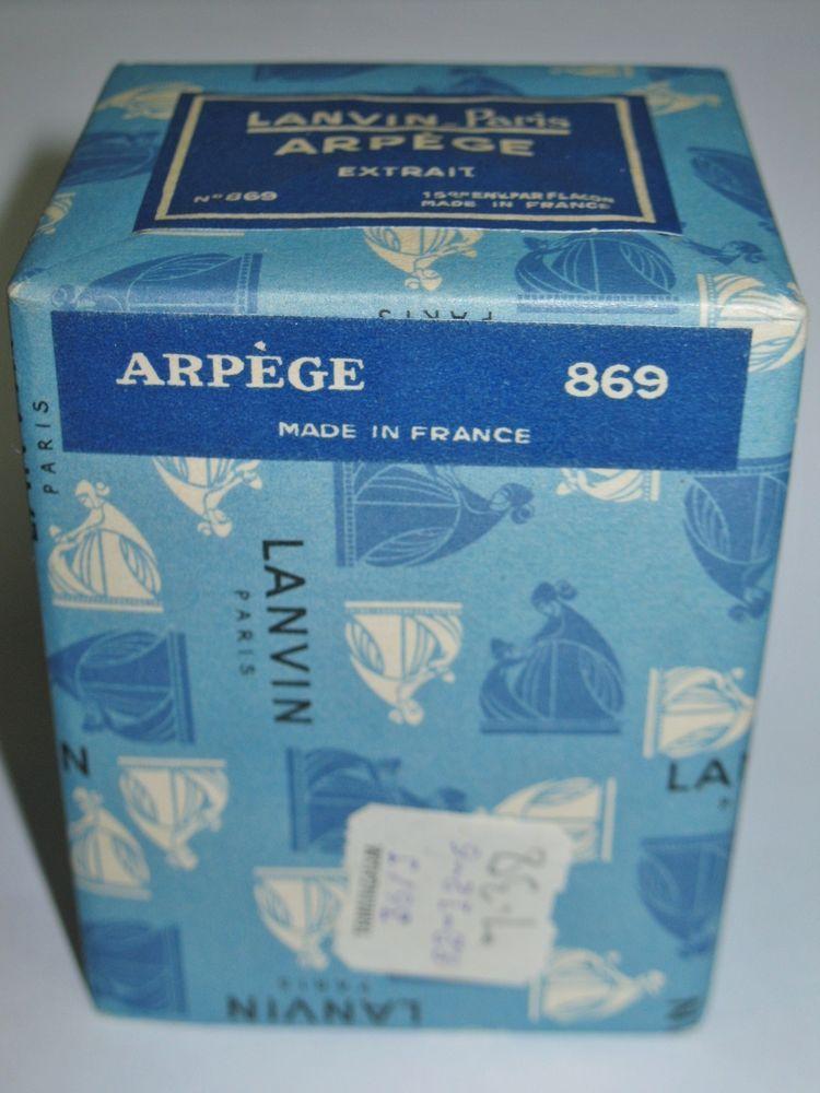 RARE Vintage LANVIN Paris ARPEGE Extrait No 869 Perfume FRANCE Wrapped Sealed #LanvinLanvinParis