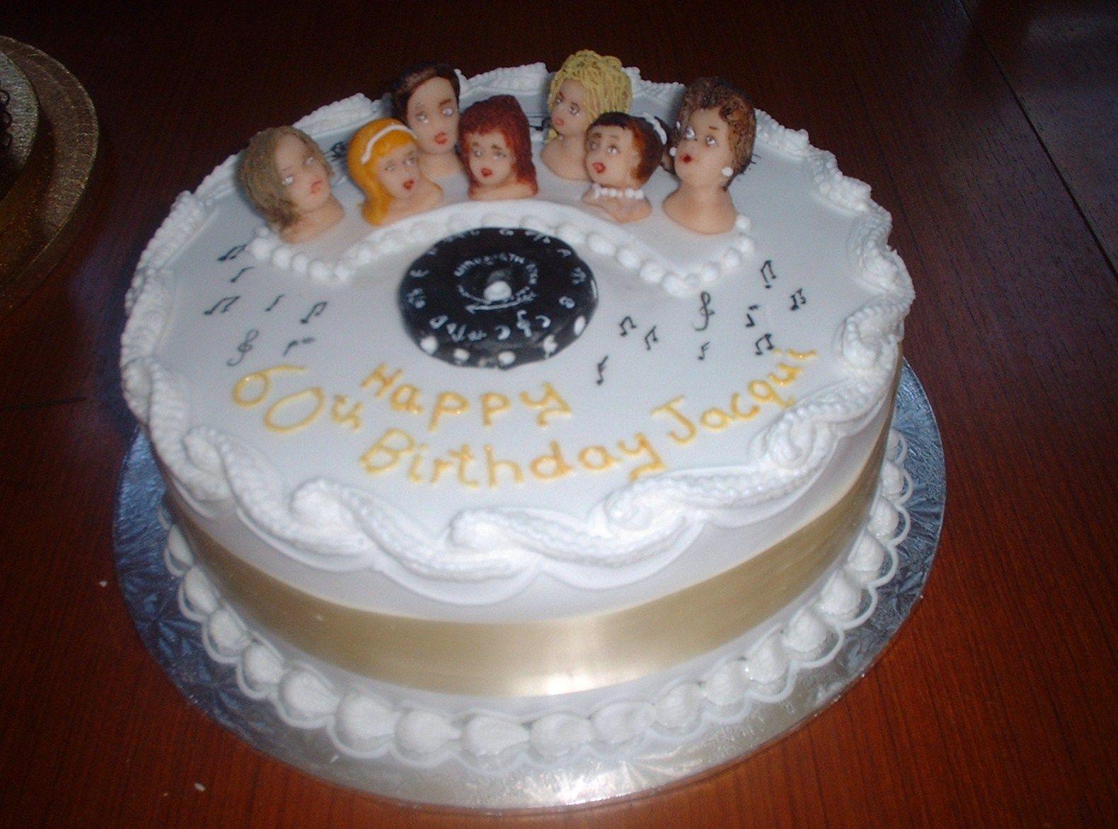 choir cake 60th birthday cake elizabeth ann s