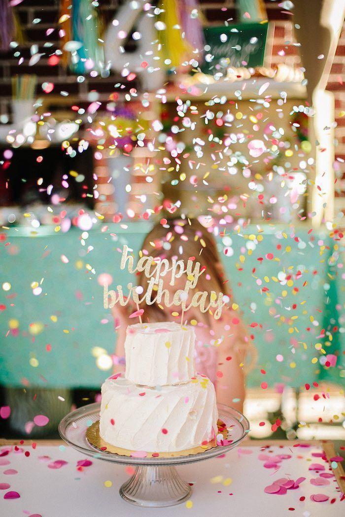 Confetti Inspired Ice Cream Birthday Party | Kara's Party Ideas