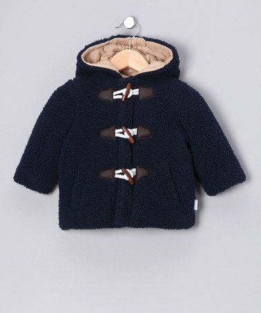 Take a look at this bon bébé Navy Berber Hooded Coat - Infant by On A Winter's Day: Outerwear & Gear on #zulily, #fall, #zulily today!