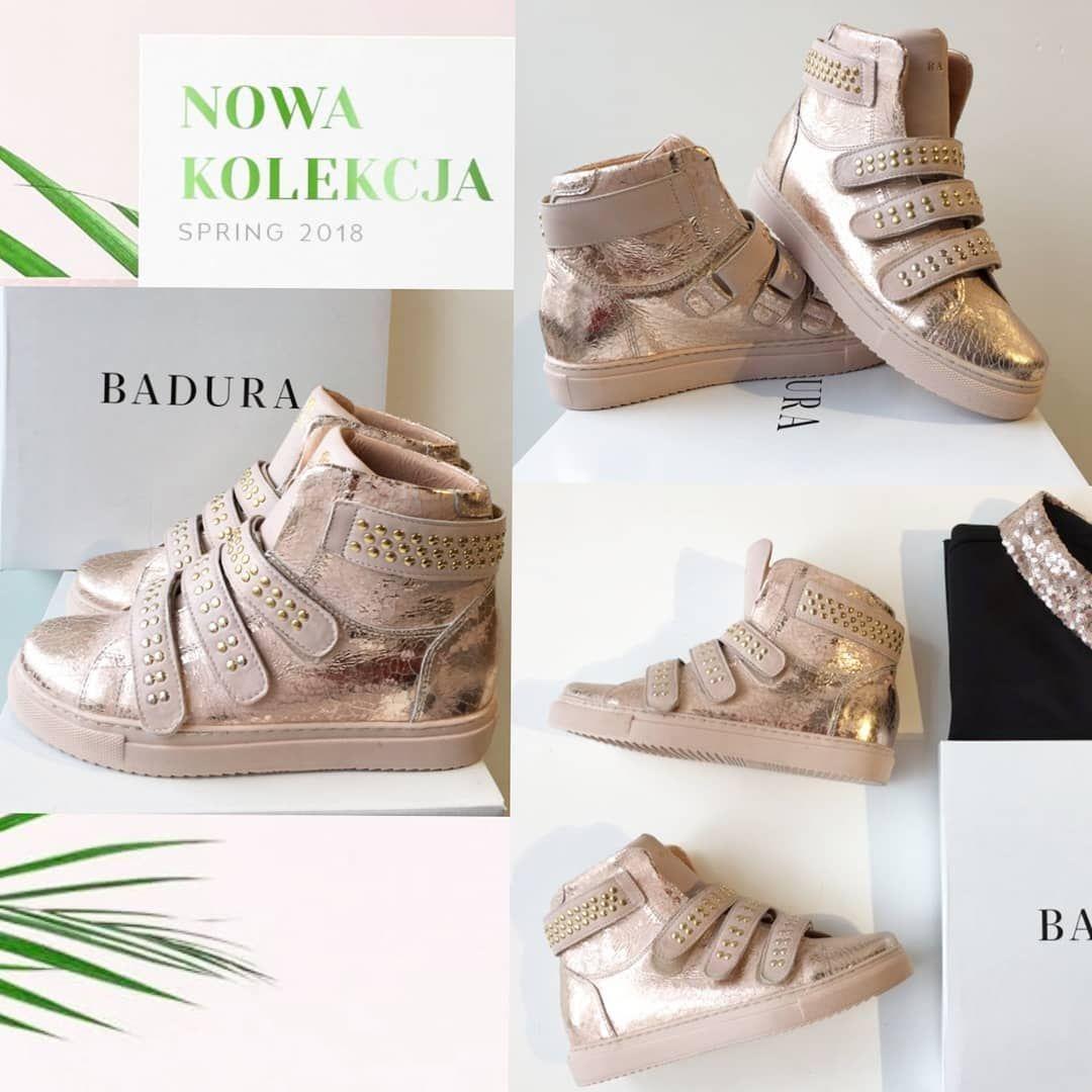 Nowa Kolekcja Badura Badurapl Shoes Thebestquality The Thebestdesign Pink Sneakersy Fashion Streetfashion Gold Le Shoes Spring Outfit Fashion