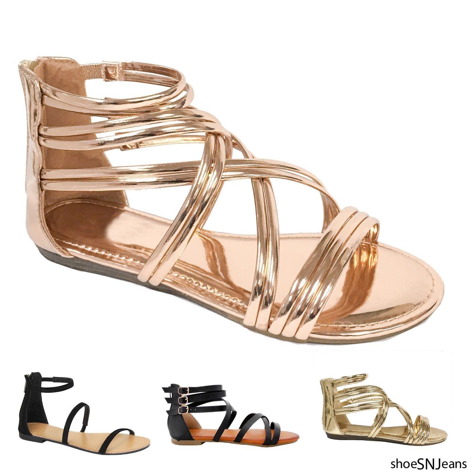 a4fc187d7 Women Casual FootWear Women Summer Sandals Women Fashion FootWear New Women  Summer Casual Gladiator Strappy Flip Flops Flat Sandals Open Toe Shoes