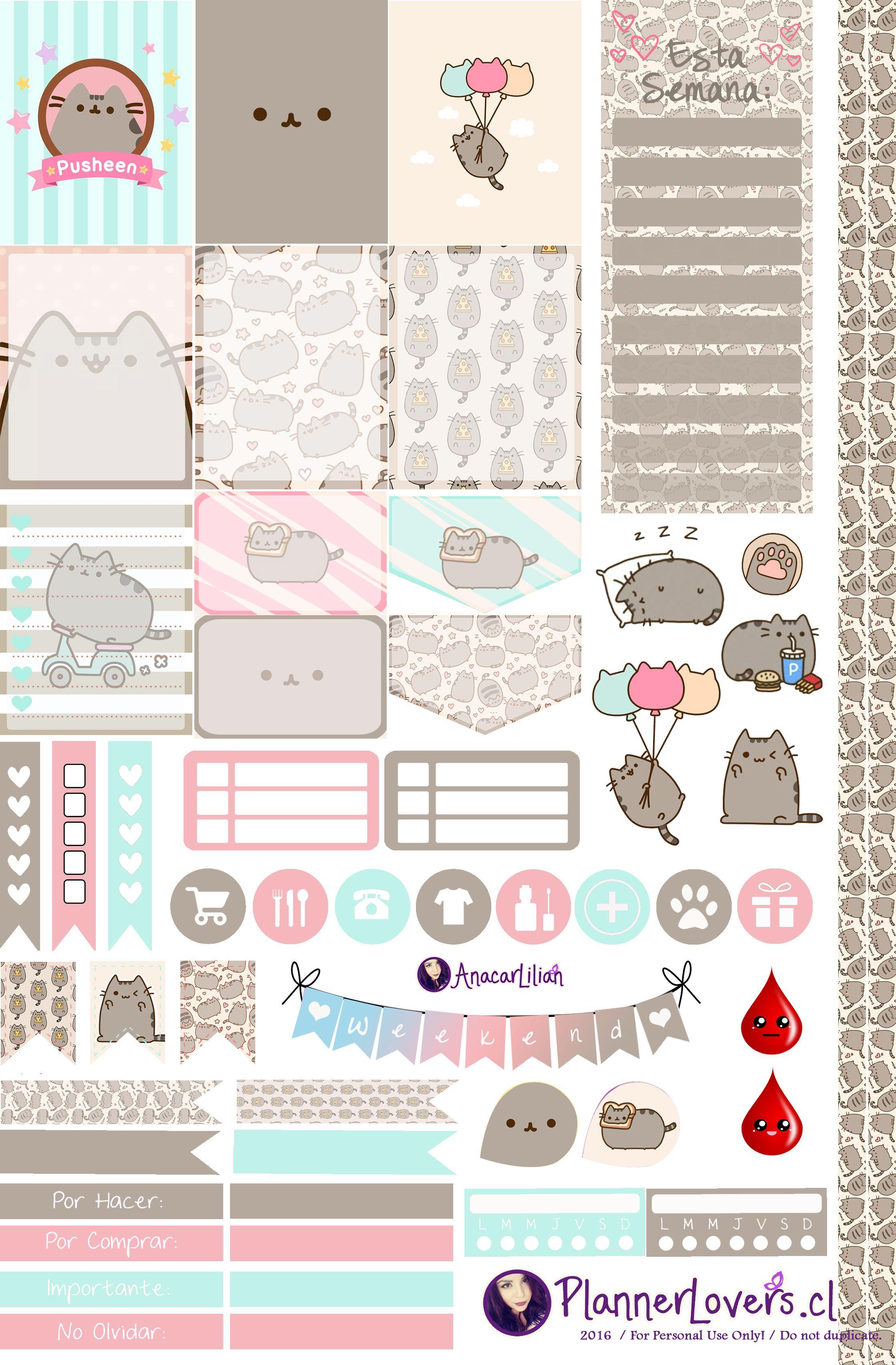 Pin de Claudia en Planner | Pinterest | Imprimibles, Pegatinas y ...