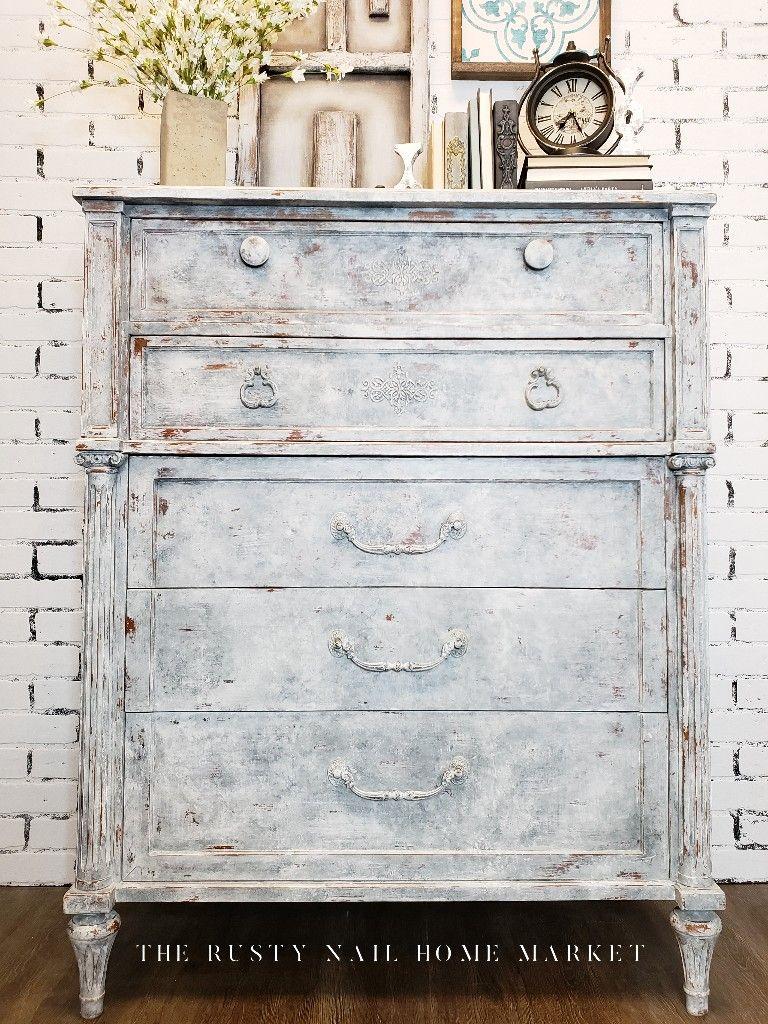 This Chest Has A Beautiful Faux Concrete Paint Finish Diy Paint Chalk Paint Furniture Painted Chalk Paint Furniture Painted Furniture Furniture Restoration