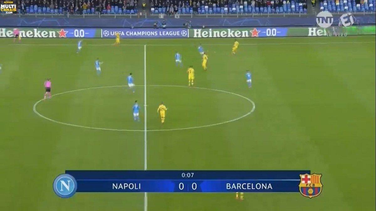 Assista Agora Napoli X Barcelona Ao Vivo Online Liga Dos