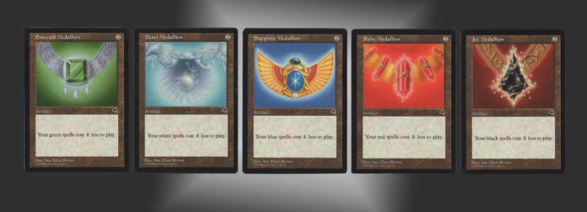 The complete set of Medallions, Tempest expansion.