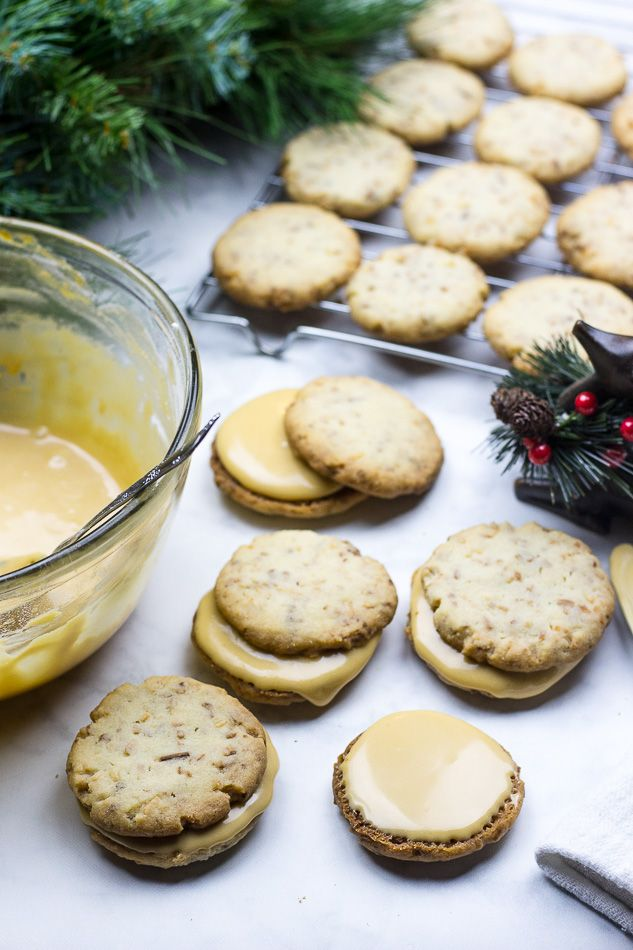 Coconut Shortbread Cookies with Salted Caramel Buttercream