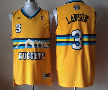 ... coupon code for denver nuggets 3 ty lawson stitched revolution 30  swingman yellow nba jerseys 0119c f11da26a7