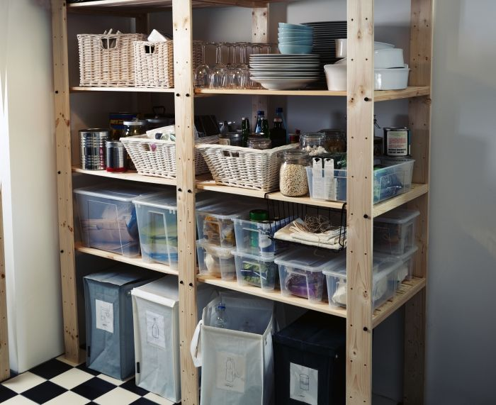 conquer your pantry sturdy gorm shelving units can support up to 110 lbs per shelf making them. Black Bedroom Furniture Sets. Home Design Ideas