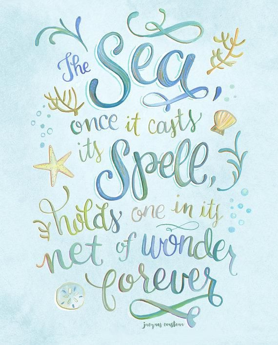The Sea, Once it Casts its Spell | Mermaid quotes, Art ...