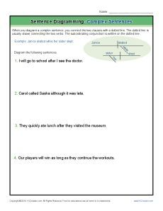 Sentence diagramming complex sentences worksheets cc essentials diagramming complex sentences free printable worksheet lesson activity ccuart Image collections