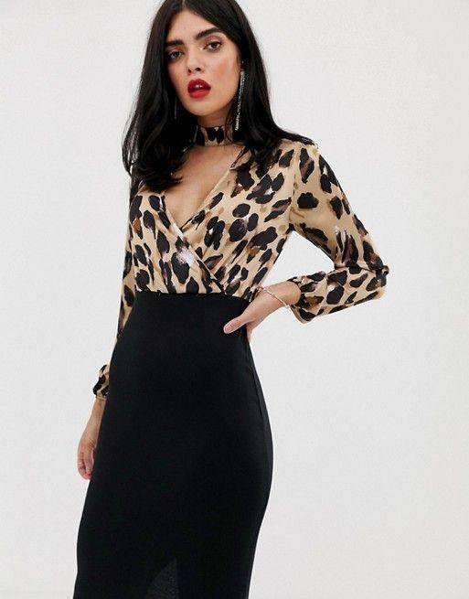 7ee843c1f62 Платье 2 в 1 с леопардовым принтом AX Paris в 2019 г.