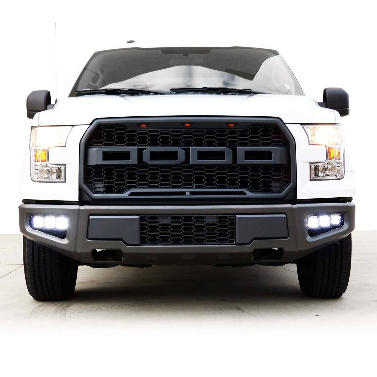 Raptor Style Replacement Front Bumper With 6x Led Fog Lights For F150 2015 2017 Genssi Led Fog Lights F150 Bumpers