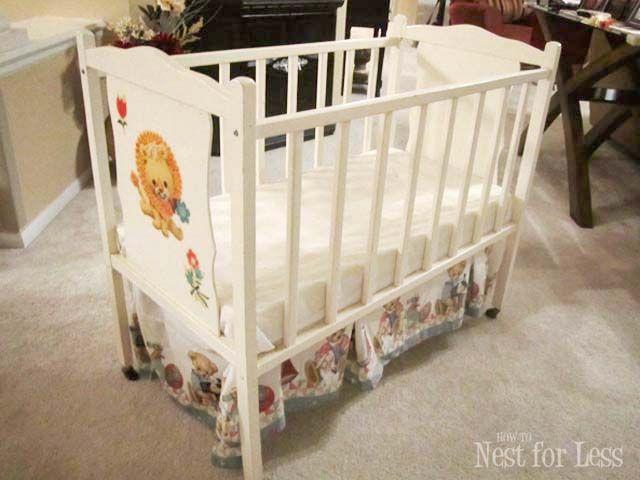 Trash To Treasure Revamped Baby Crib