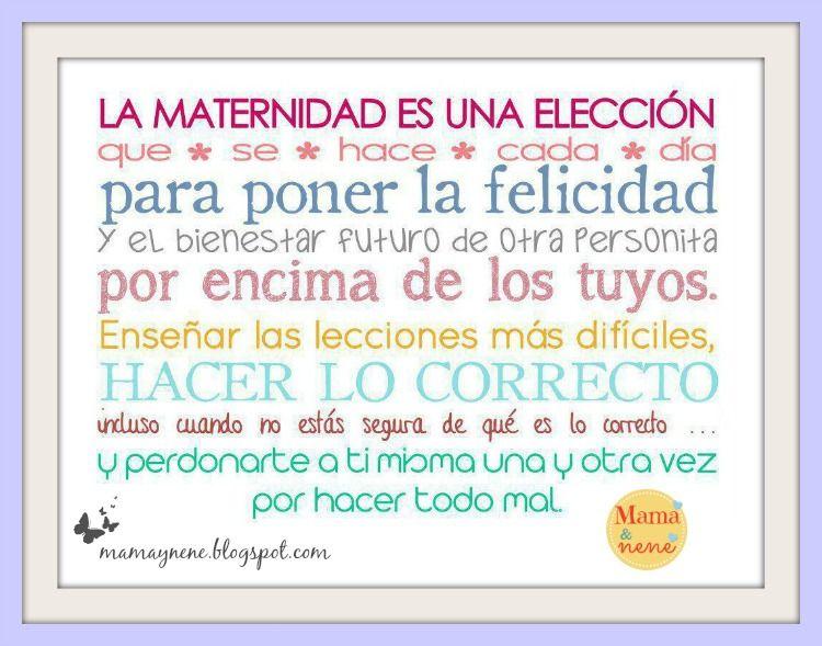6019290c4 La maternidad es una elección. Maternidad