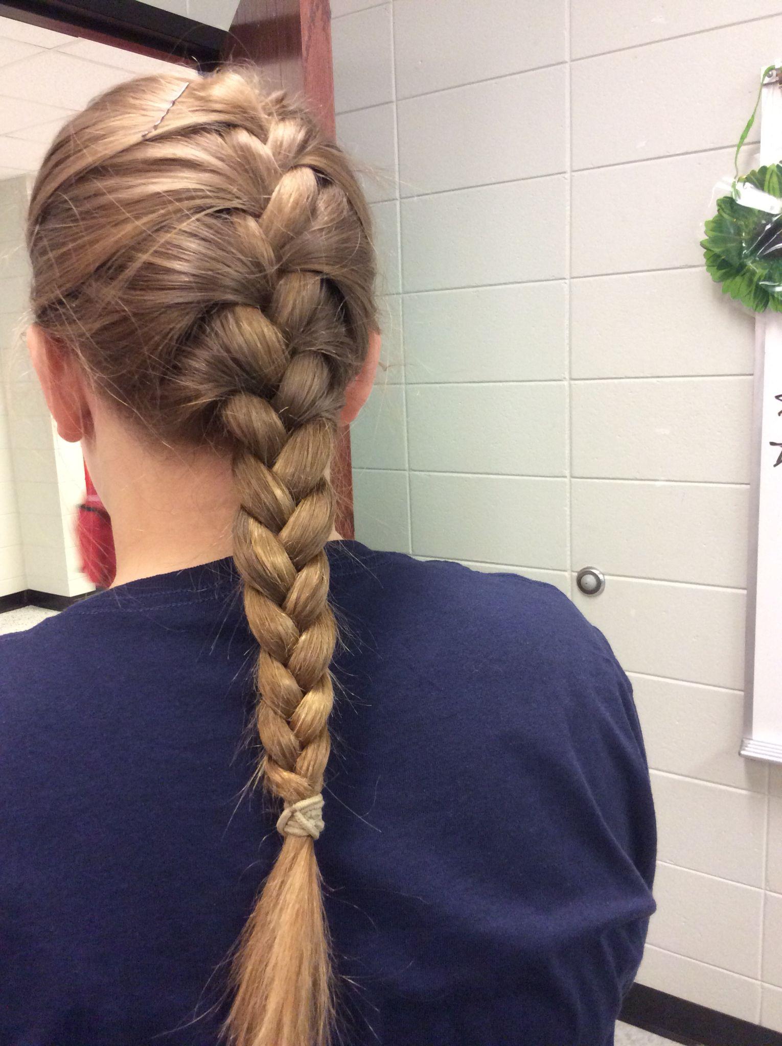 a simple french braid ✌️🌺 | braids in 2019 | braided