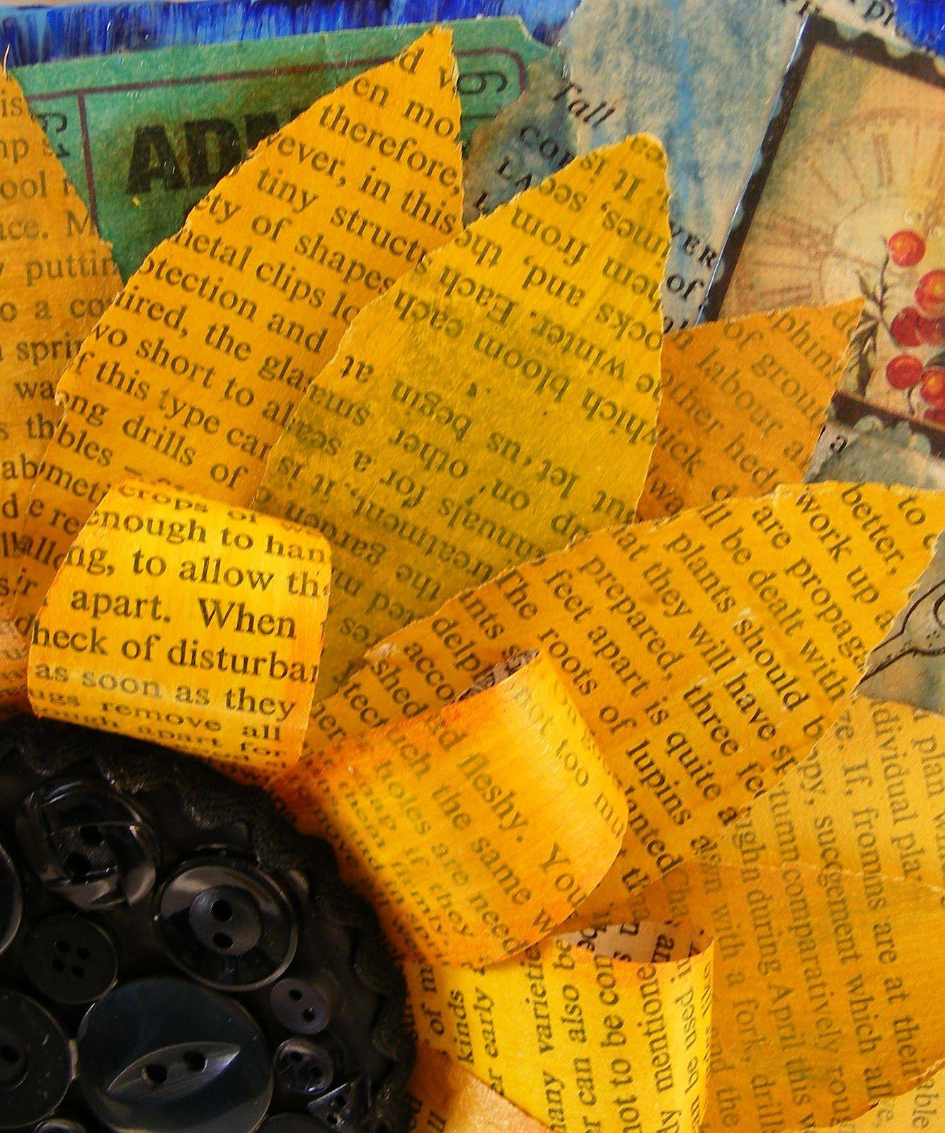 Sunflower mixed media | J U S T. D O. I T. M Y S E L F | Pinterest ...