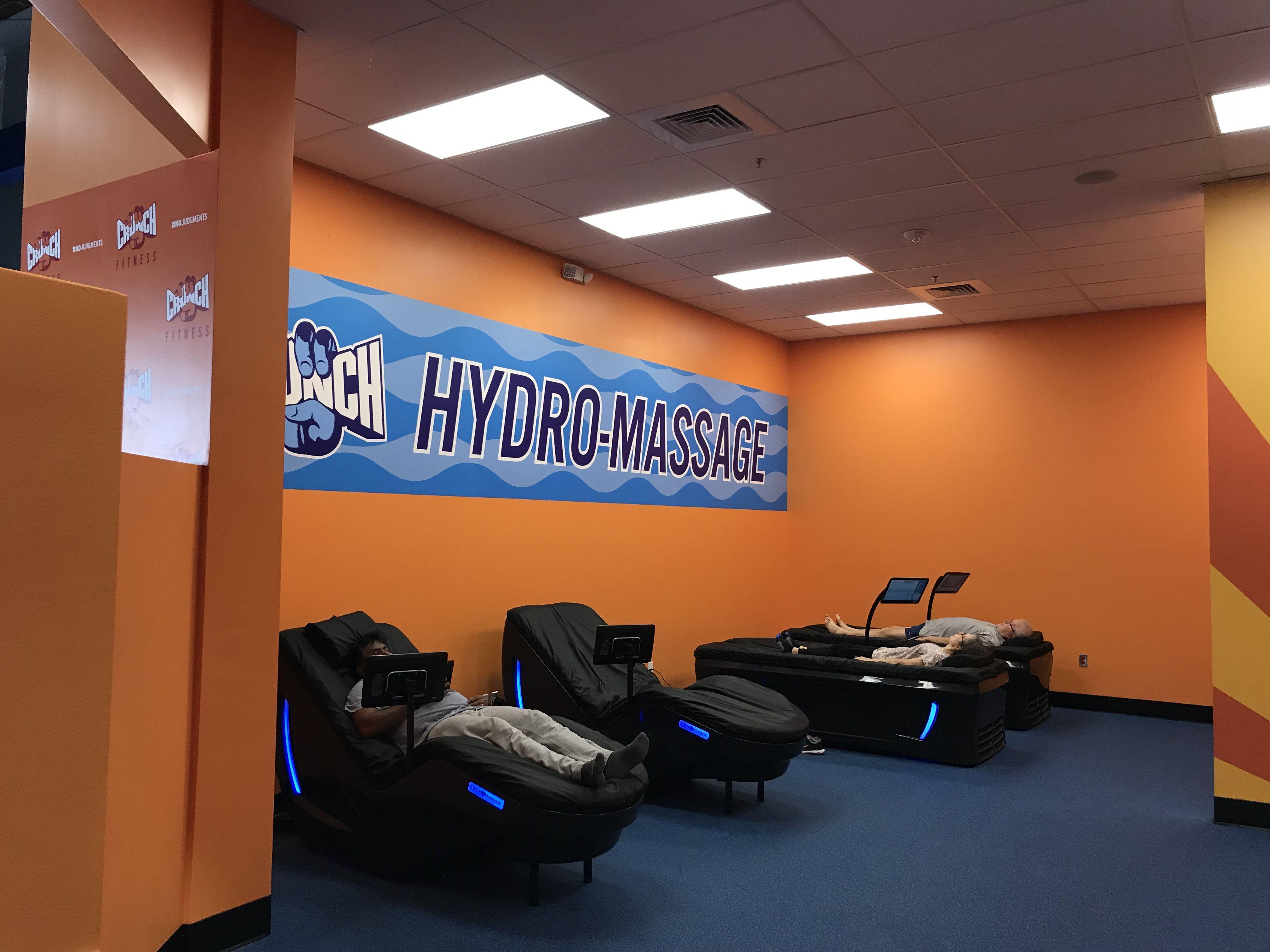 Hydromassage Zone In Crunch Fitness Best Gym Workout Wellness Massage No Equipment Workout